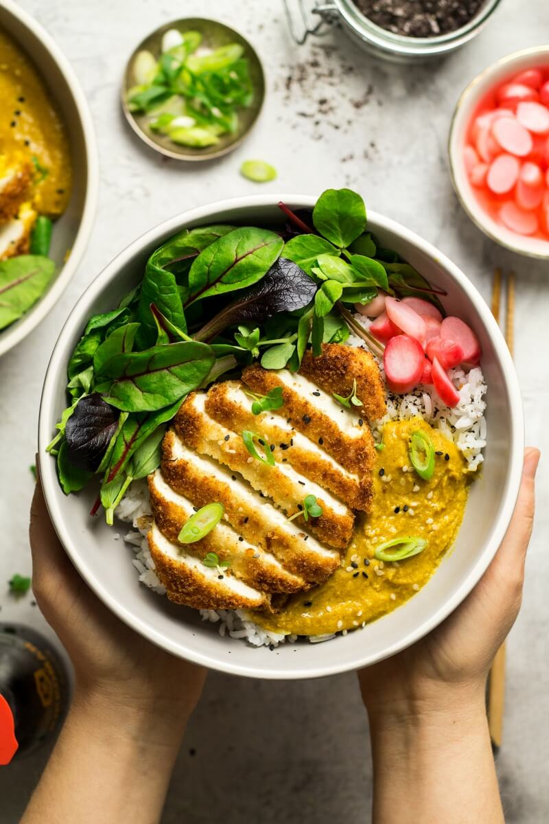 Vegan Katsu Curry with Tofu | The Green Loot #vegan #tofu
