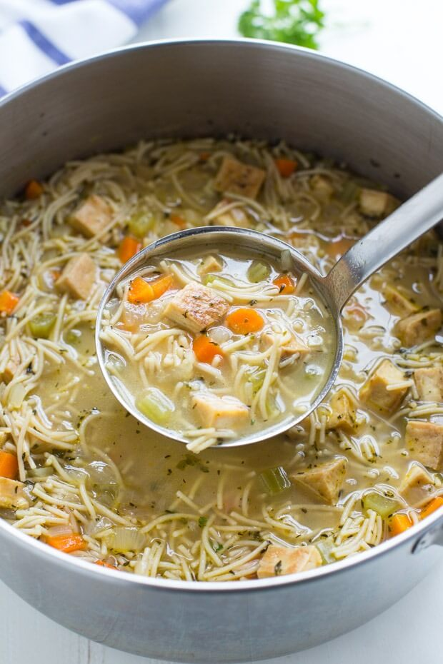 Vegan 'Chicken' Noodle Soup