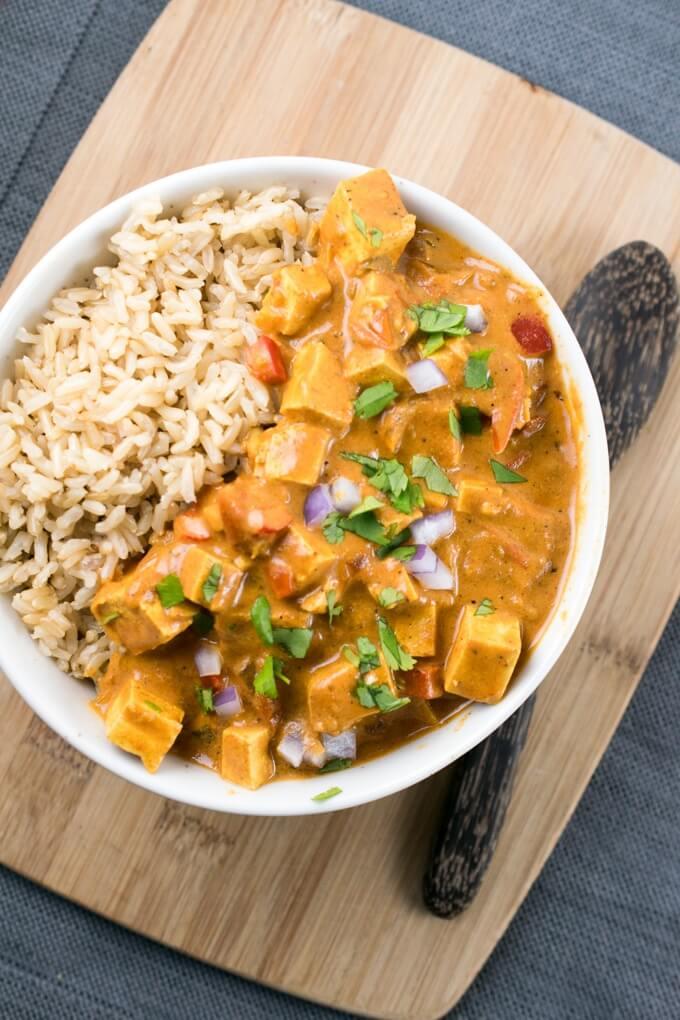 Vegan Slow Cooker Tofu Tikka Masala | The Green Loot #vegan #tofu