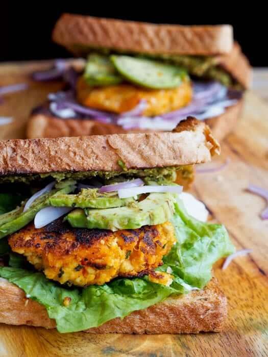 Vegan Sweet Potato Tofu Burgers