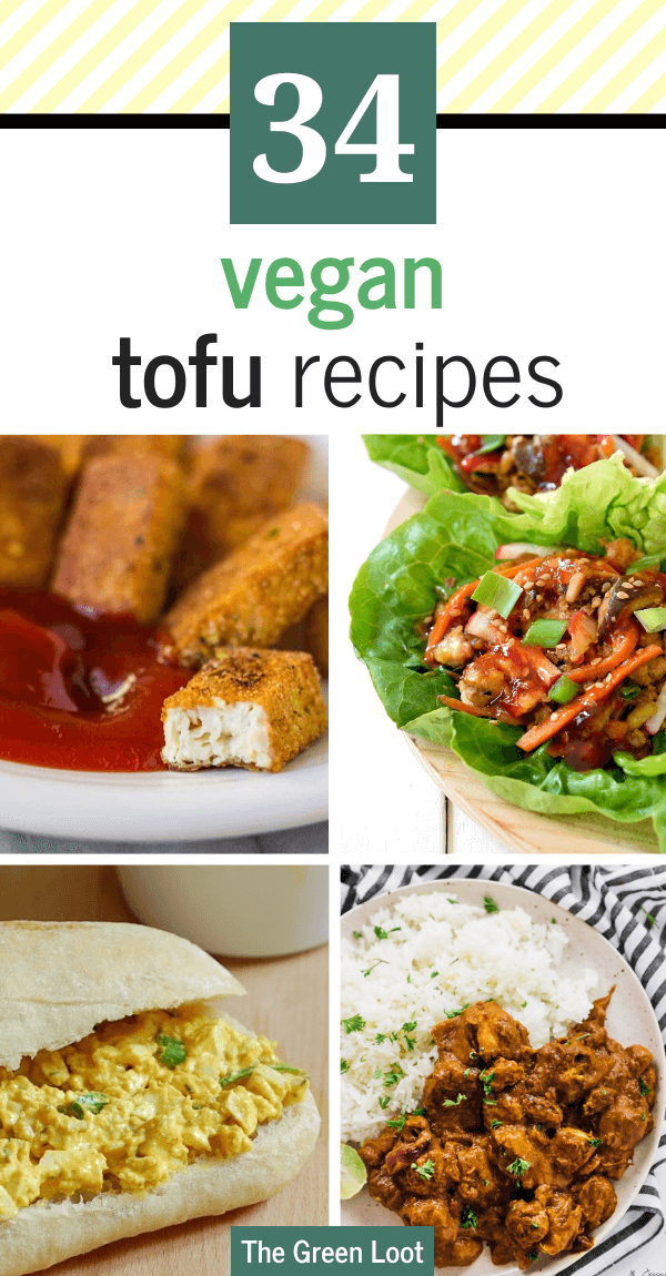 These Vegan Tofu Recipes are simple, healthy and perfect for beginners, too. From lettuce wraps to stir fry, to curry and tacos, easy vegan recipes with tofu will make the family's favorite dinners! | The Green Loot #vegan #veganrecipes
