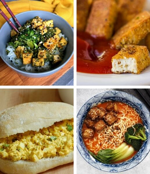 These Vegan Tofu Recipes are simple, healthy and perfect for beginners, too. From lettuce wraps to stir fry, to curry and tacos, easy vegan recipes with tofu will make the family's favorite dinners! Don't know how to make tofu? Don't worry! You will learn in no time. | The Green Loot #vegan #tofu