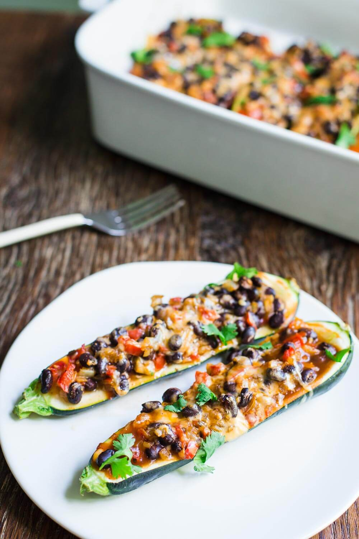 Vegan Enchilada Zucchini Boats | #vegan