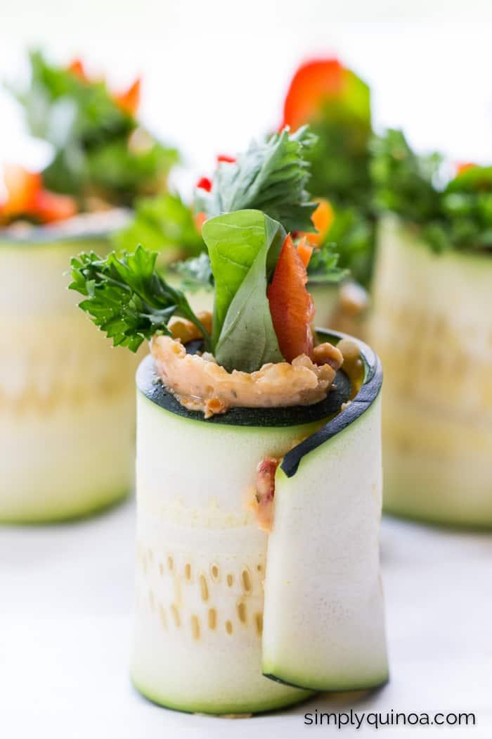 Vegan Zucchini Quinoa Roll Up