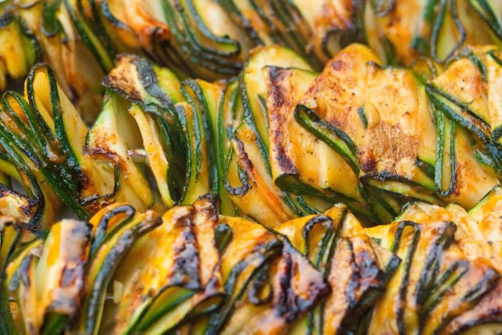 Vegan Grilled Zucchini Ribbons