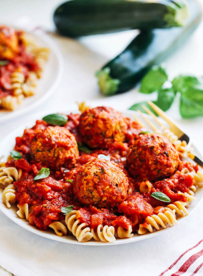 Vegan Zucchini 'Meatballs' | #vegan