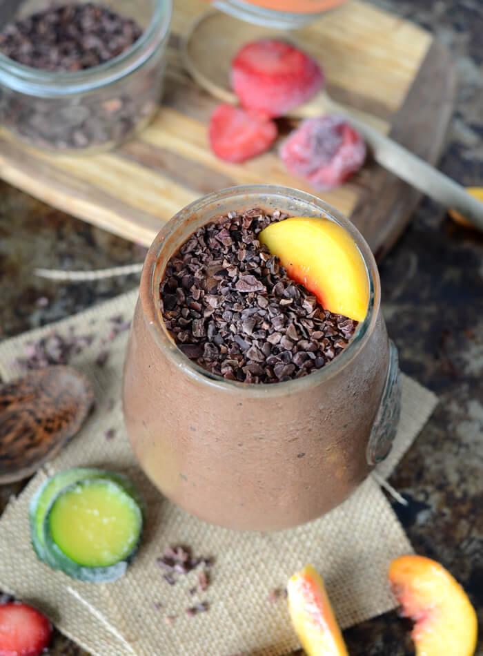 Vegan Chocolate Zucchini Smoothie Bowl