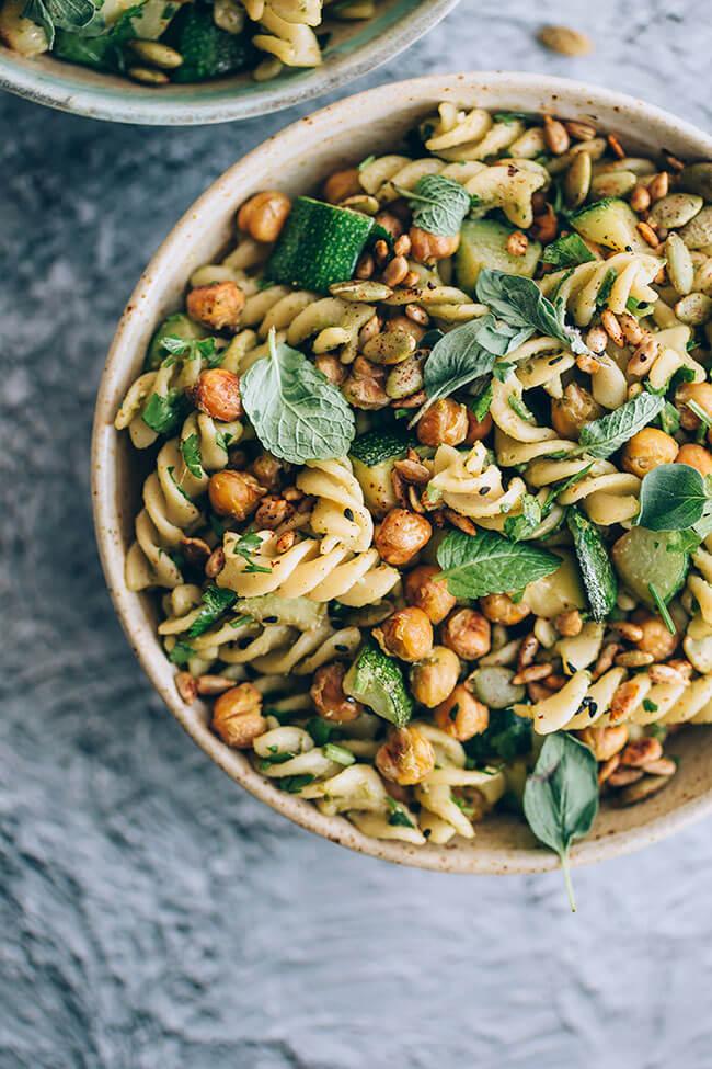 Vegan Very Green Pasta Salad