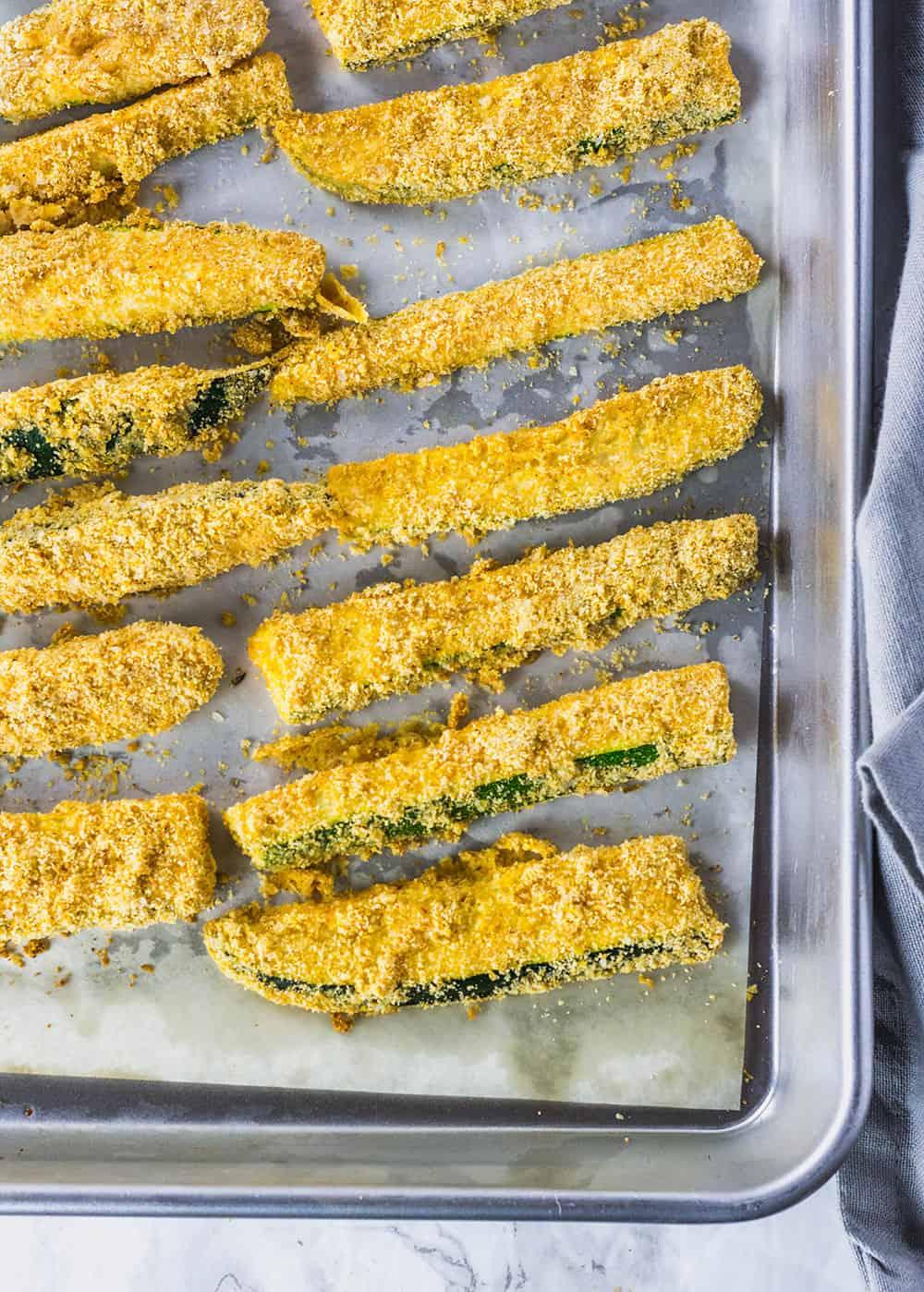 Vegan Baked Zucchini Fries