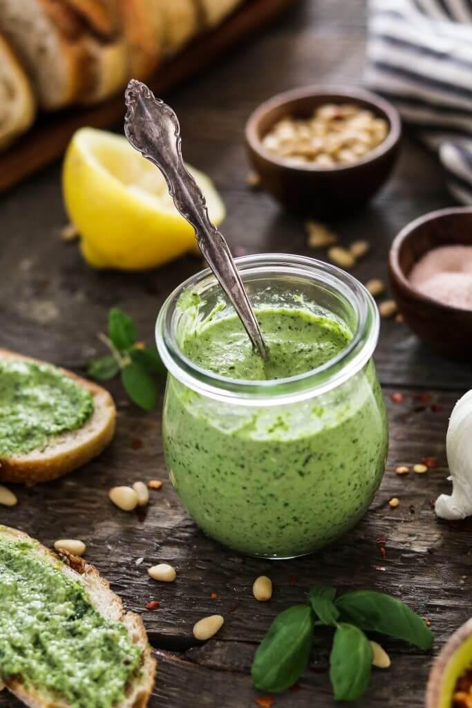 Vegan Oil-free Zucchini Pesto