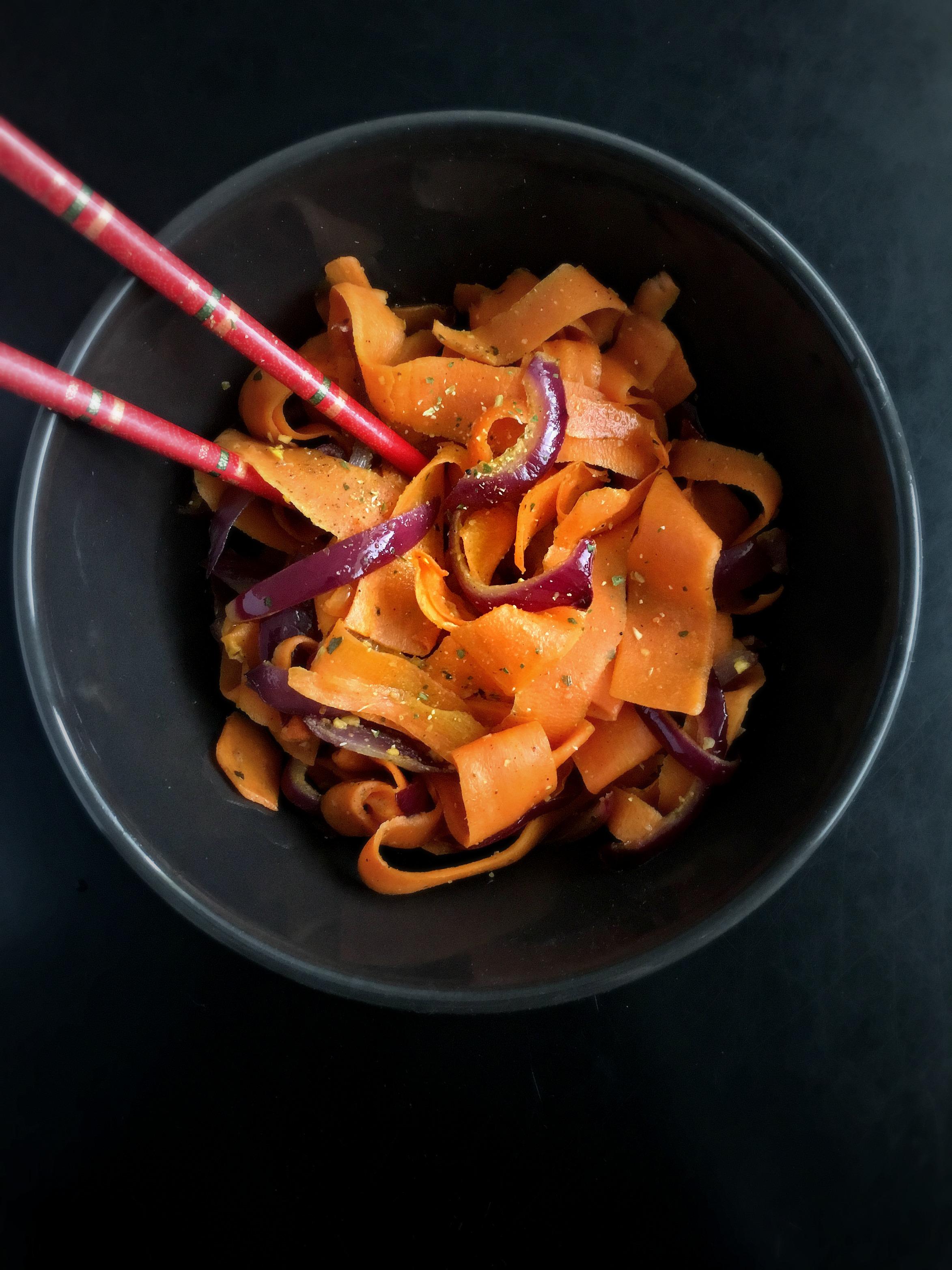 Vegan Black Pepper Carrot Onion Stir Fry