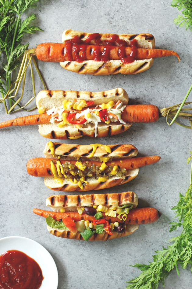 Vegan Carrot Dogs | #vegan