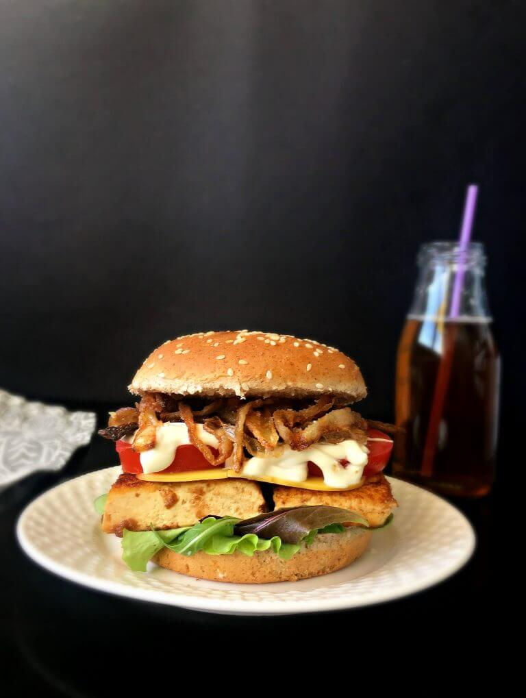 Vegan Tofu BBQ Burger | #vegan