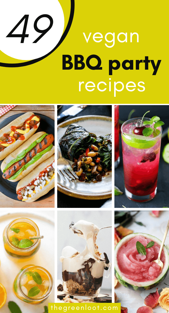 Vegan Summer Recipes for BBQ and Grilling that are perfect for your veggie barbecue parties. These tasty cocktails, delicious main dishes and sweet treats will make your Summer tasty and unforgettable! | The Green Loot #vegan #veganrecipes