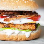 This Vegan BBQ Tofu Burger is a super easy, vegan burger recipe that's perfect for grilling, July 4th or any Summer parties/dinners. | The Green Loot #vegan #veganrecipes #BBQ #Summer