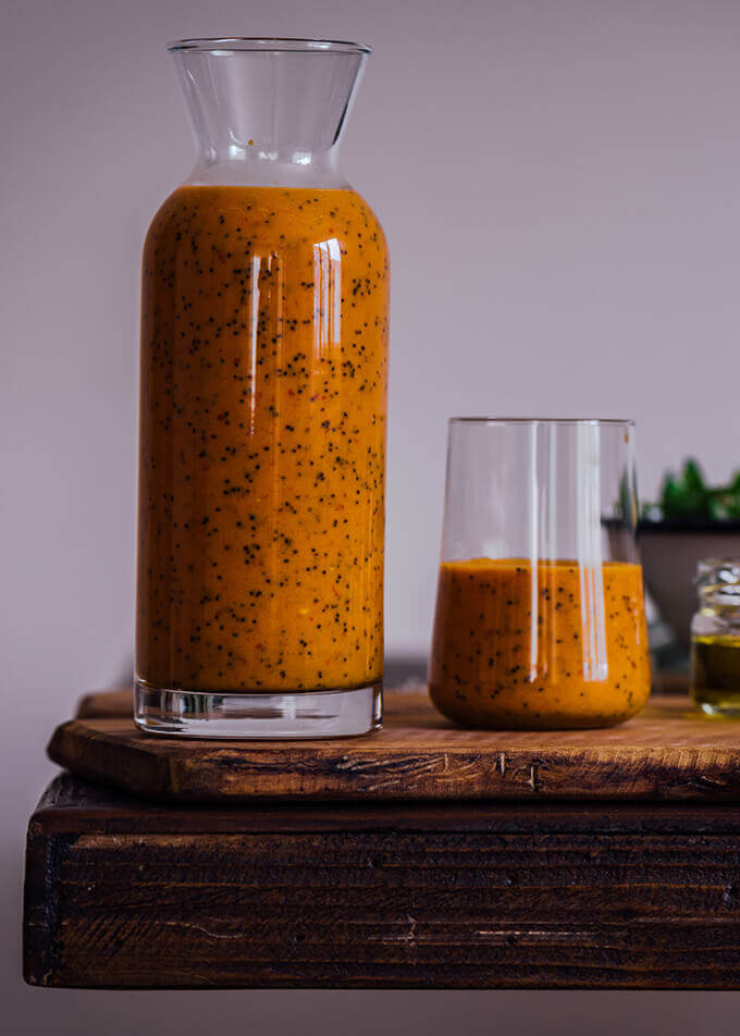 Vegan Turmeric Orange Poppy Seed Dressing | #vegan
