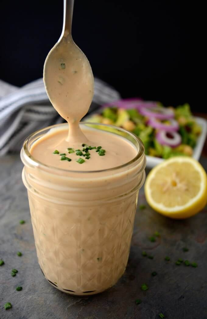 Vegan Creamy BBQ Ranch Dressing | #vegan