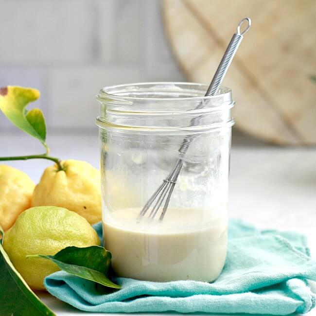 Vegan Lemon Tahini Dressing (Oil-Free)