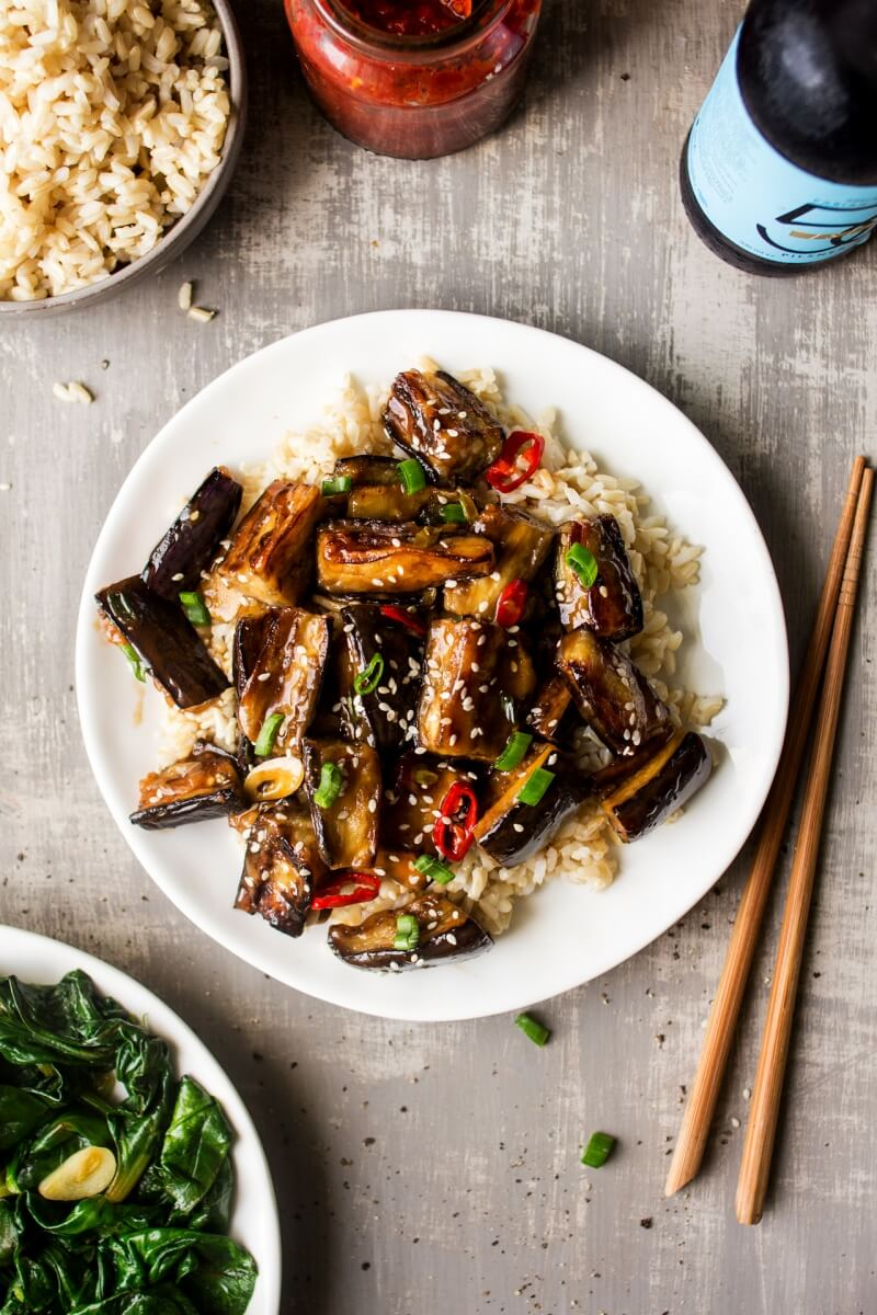 Vegan Chinese Eggplant Stir-fry | #vegan