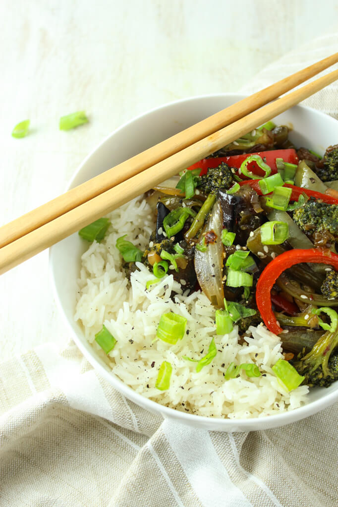 Vegan Eggplant Stir-fry | #vegan