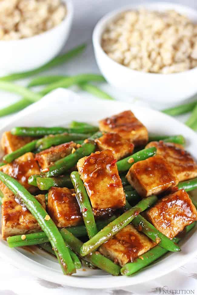 Vegan Tofu Green Bean Stir Fry | #vegan