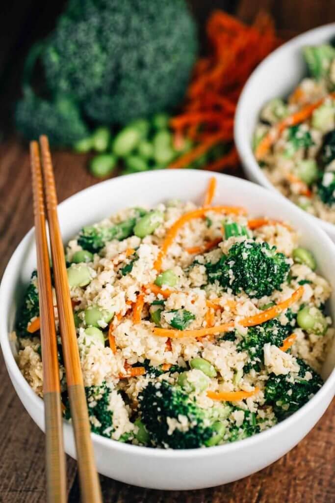Vegan Cauliflower 'Rice' Stir Fry | #vegan