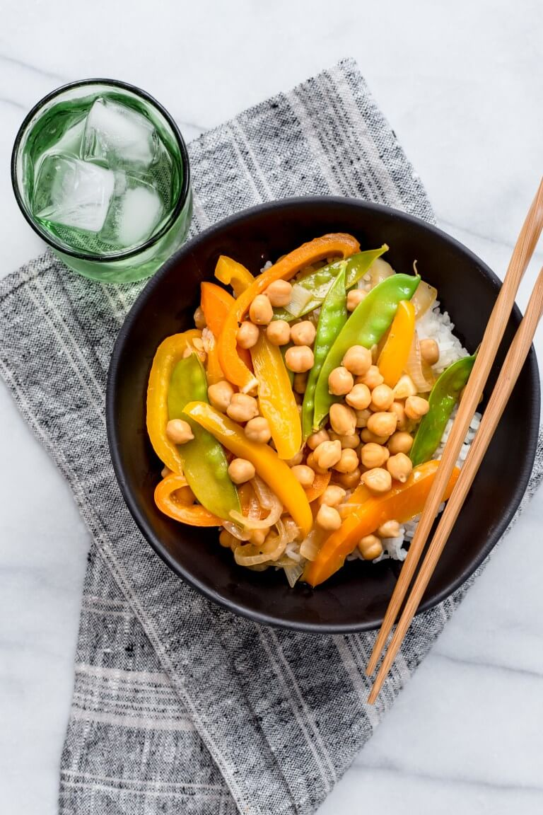 Vegan Quick Chickpea Stir Fry