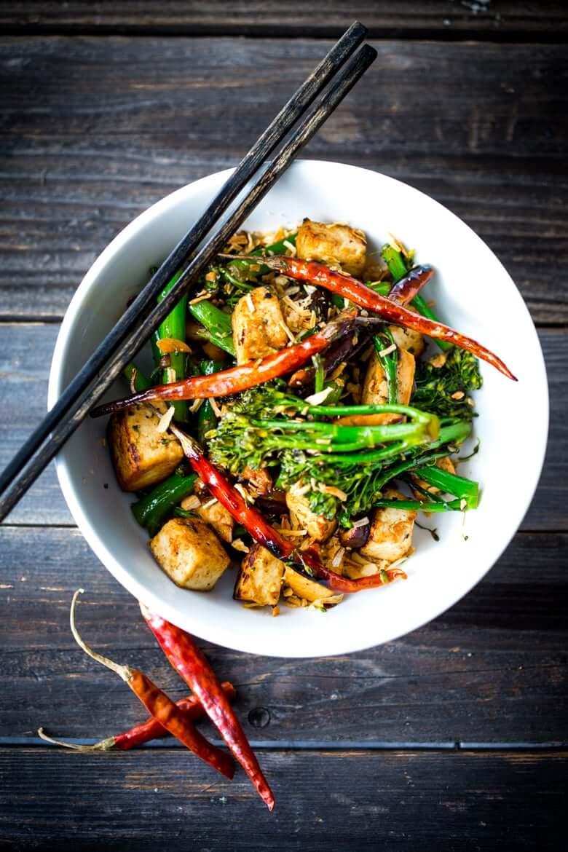 Vegan Broccolini Mushroom Stir Fry