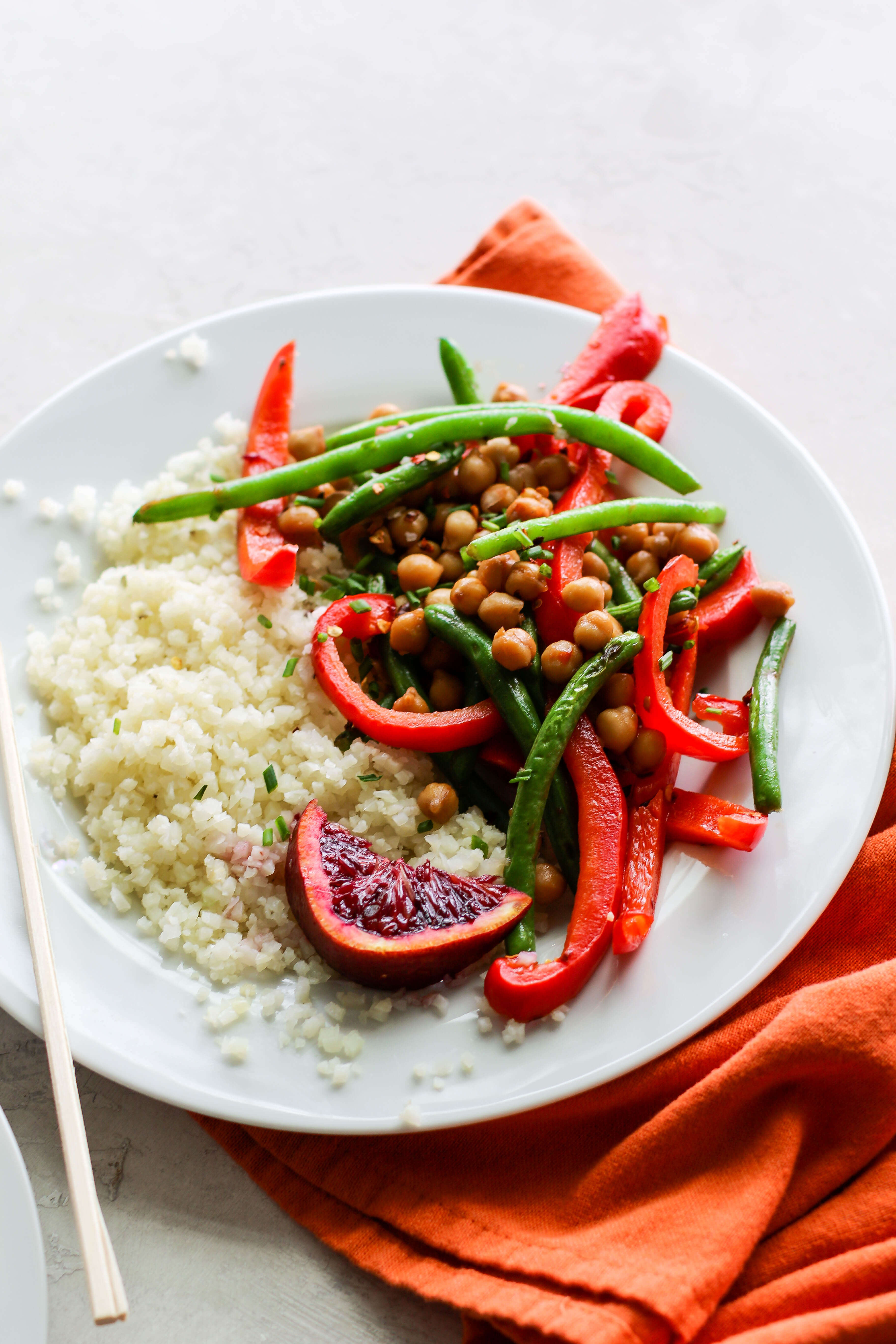 Vegan Orange Chickpea Stir Fry