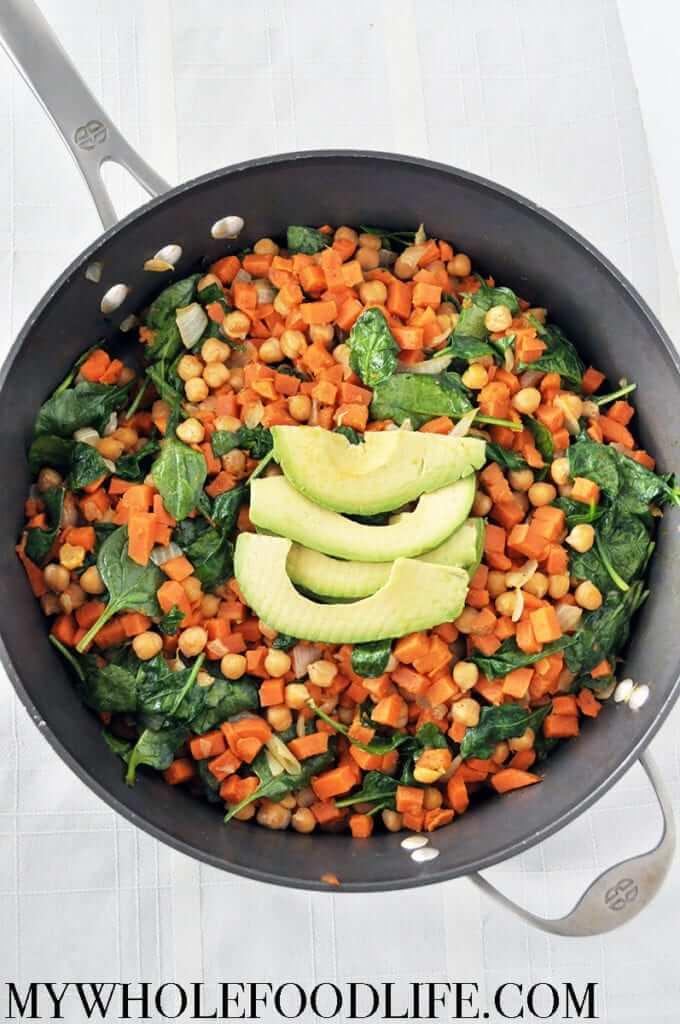 Vegan Sweet Potato Chickpea Stir Fry | #vegan