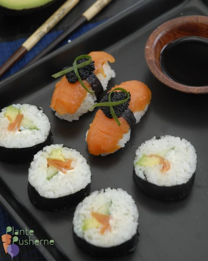 Vegan Carrot Lox Sushi