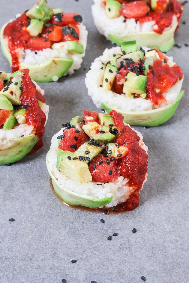 Vegan Sushi Cups | #vegan #sushi