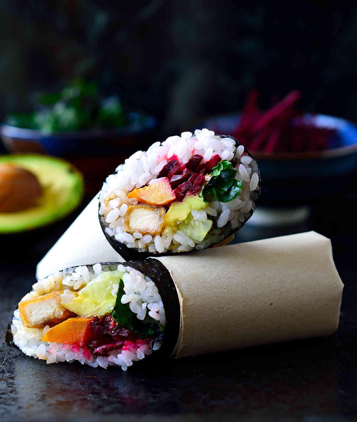 Vegan Sushi Burrito | #vegan #sushi