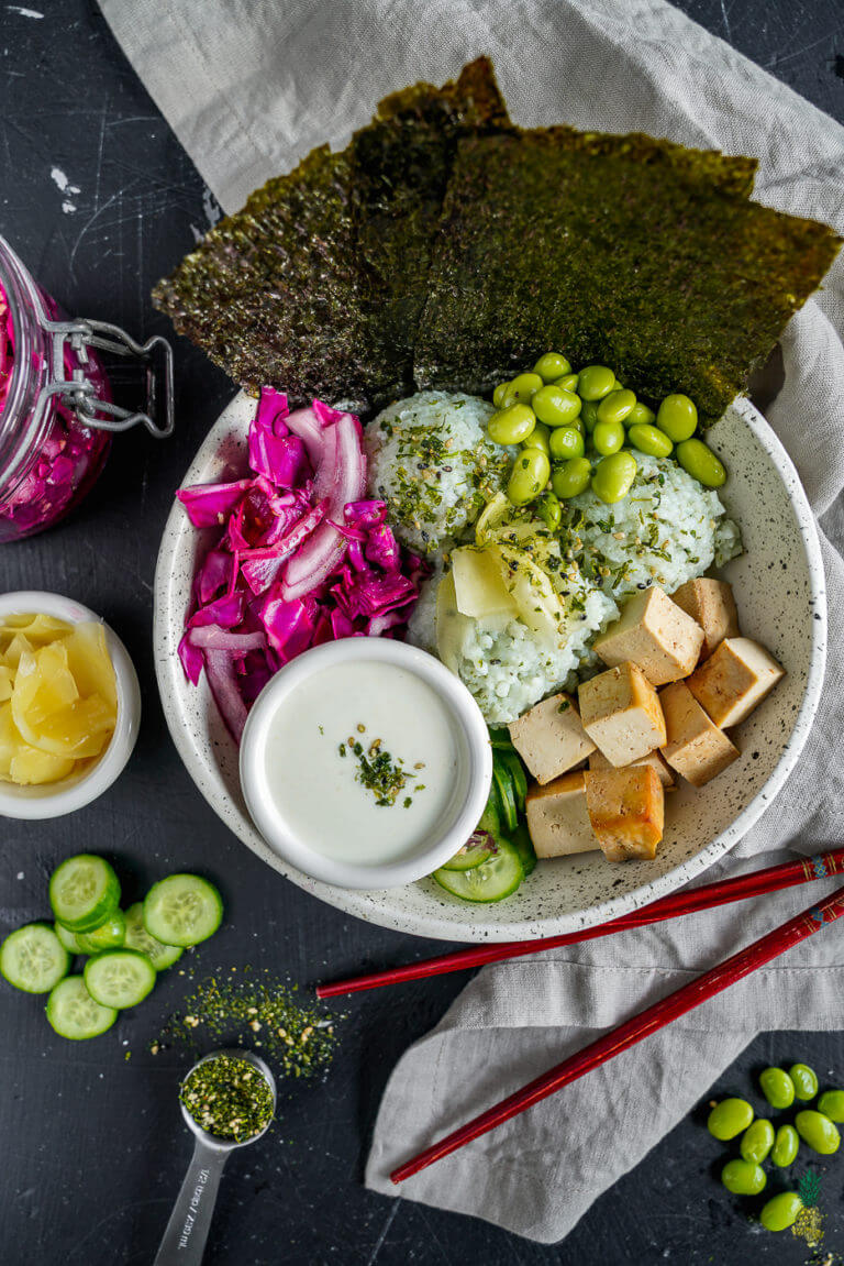 Vegan Sushi Buddha Bowl | #vegan #sushi