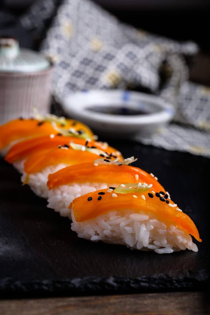 Vegan Silky Bell Pepper Sushi | #vegan #sushi