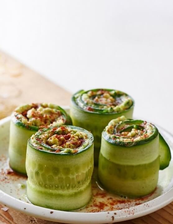 Vegan Raw Cucumber Sushi Rolls