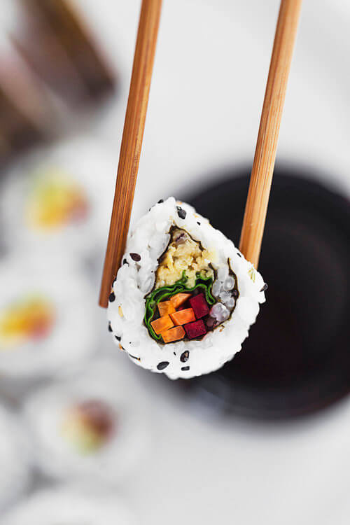 "Vegan Chickpea ""Tuna"" Roll 