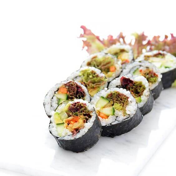 Vegan Kimchi Sushi | #vegan #sushi