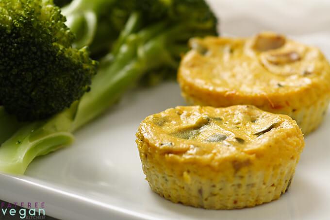 Vegan Tofu Quiches | #vegan