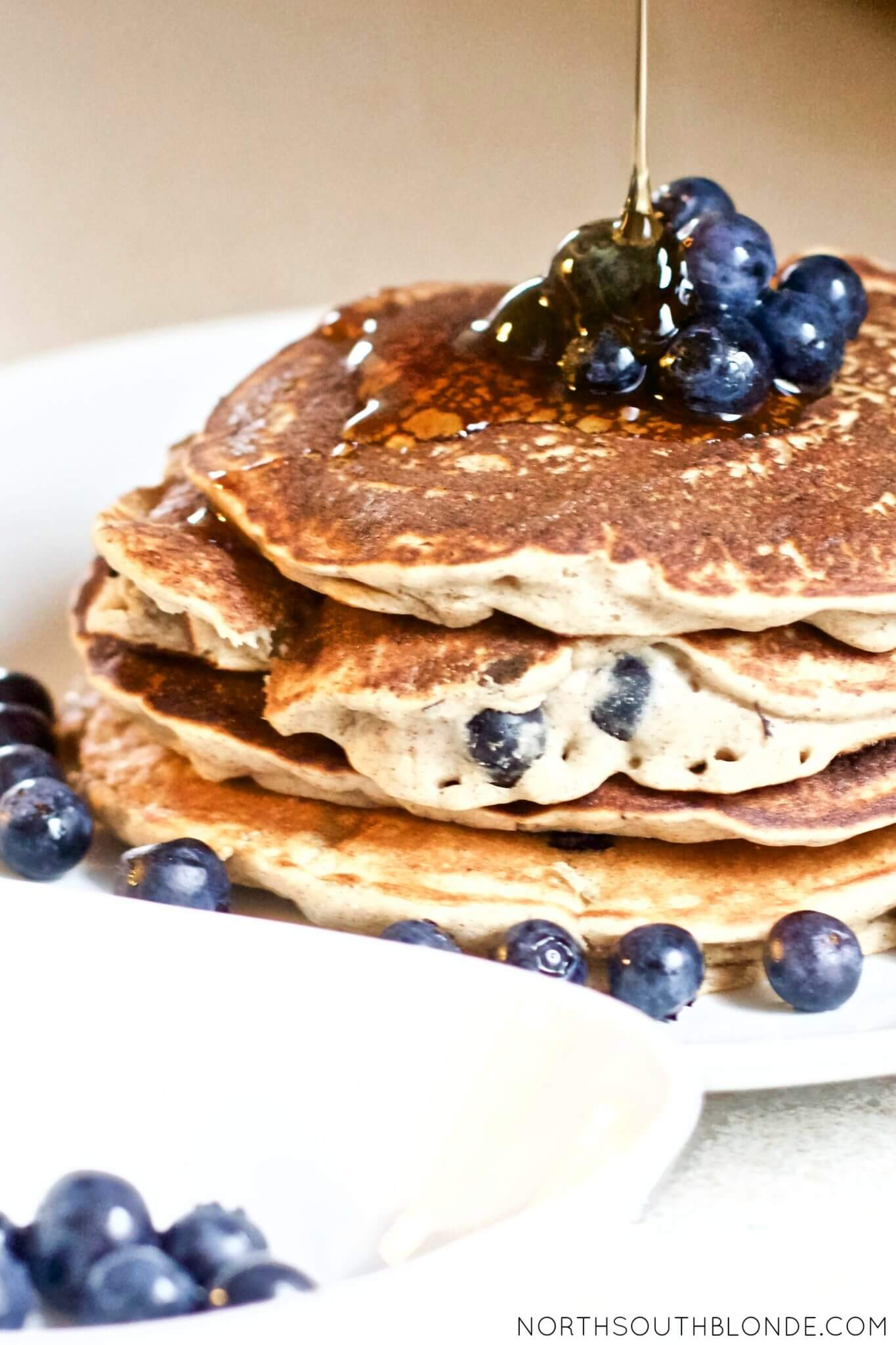Vegan Blueberry Pancakes | #vegan