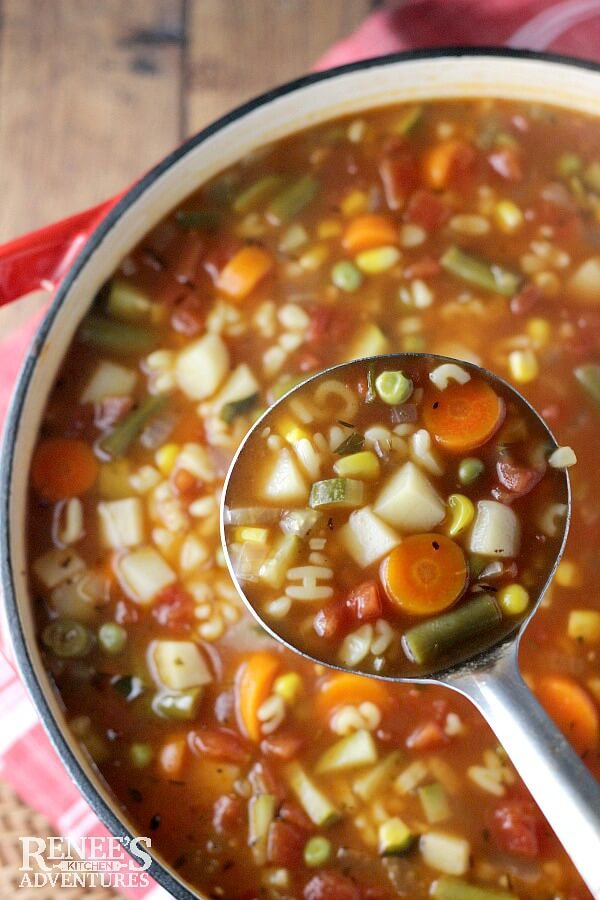 Vegan Vegetable Alphabet Soup