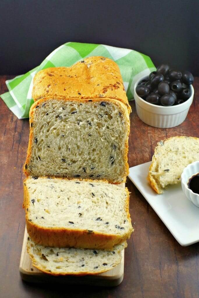 Vegan Onion and Olive Bread