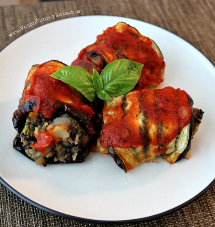 Vegan Eggplant Black Bean Potato Rollatini