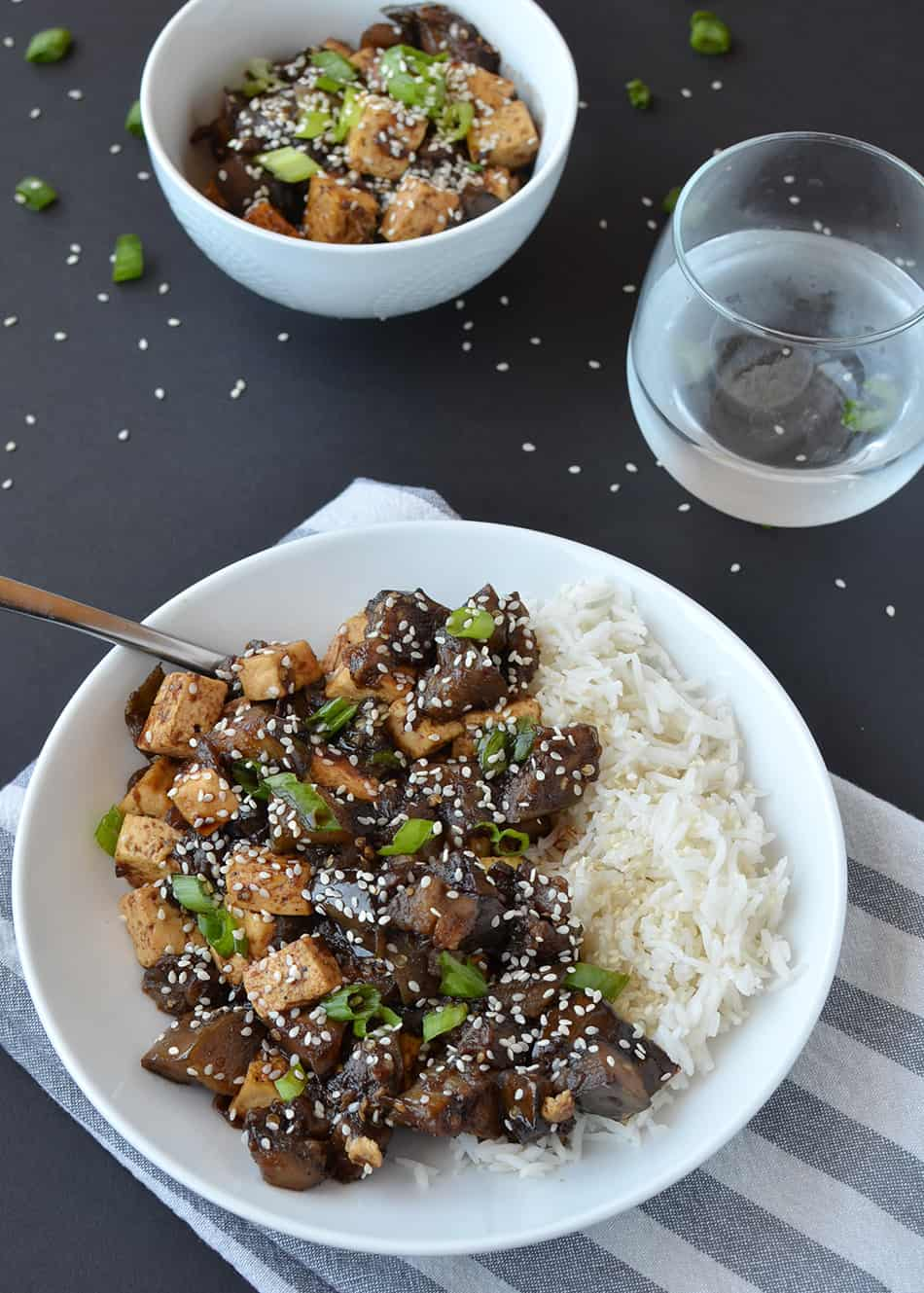 Vegan Eggplant Teriyaki Stir-Fry with Tofu