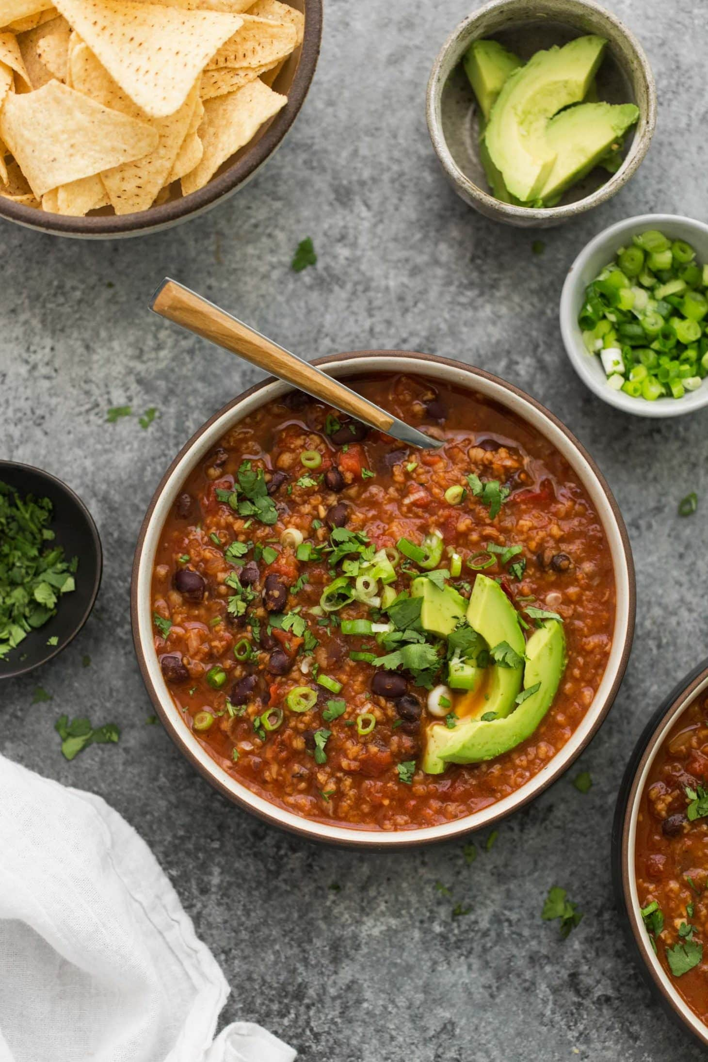 Vegan Chipotle Black Bean Chili with Bulgur