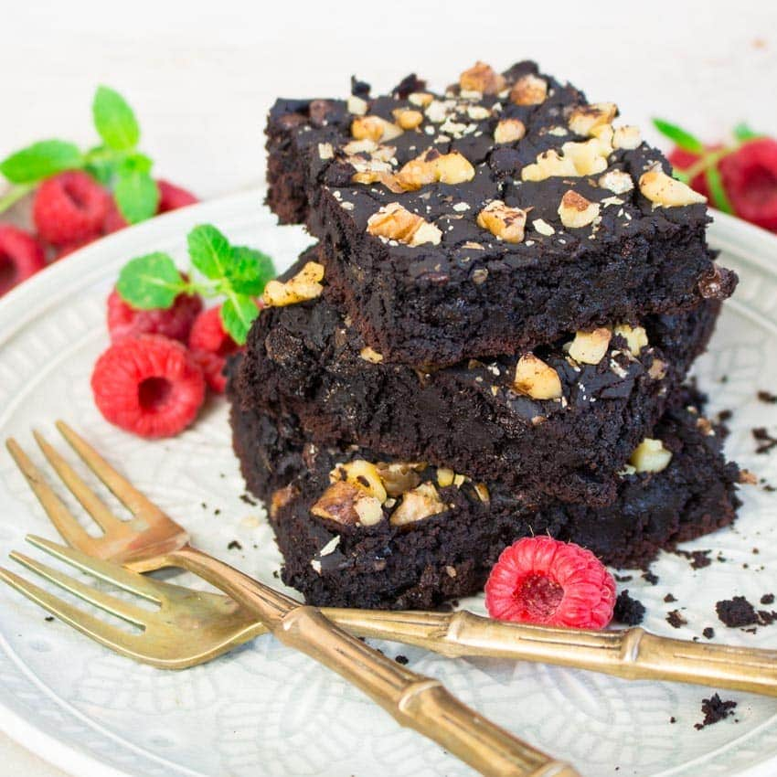 Vegan Gluten-free Black Bean Brownies
