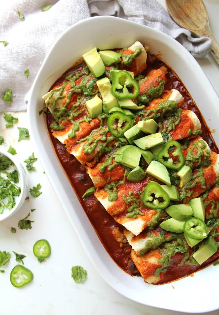 Vegan Black Bean and Potato Enchiladas