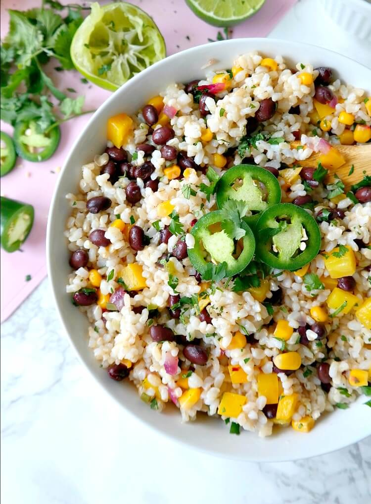 Vegan Fiesta Lime and Black Bean Rice