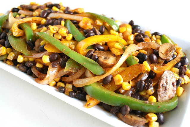 Vegan Corn and Black Bean Fajitas