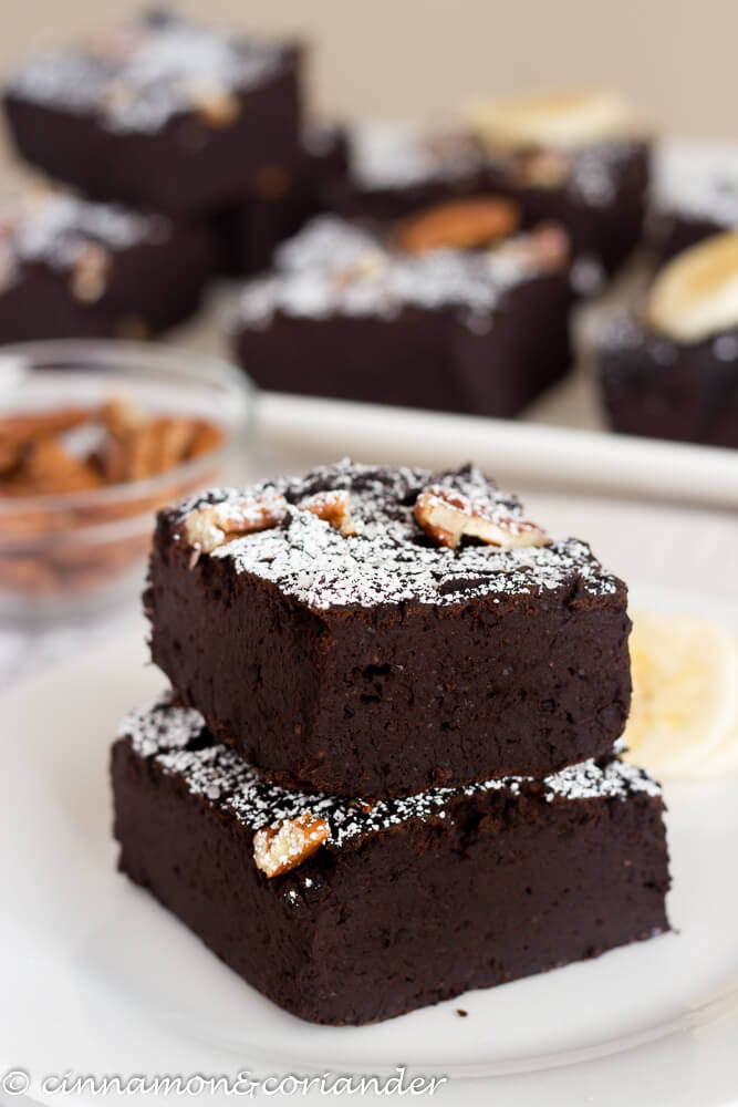 Vegan Black Bean Brownies with Banana